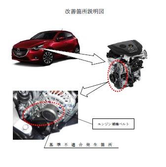 デミオ CX3 オーバーヒート 発電不良