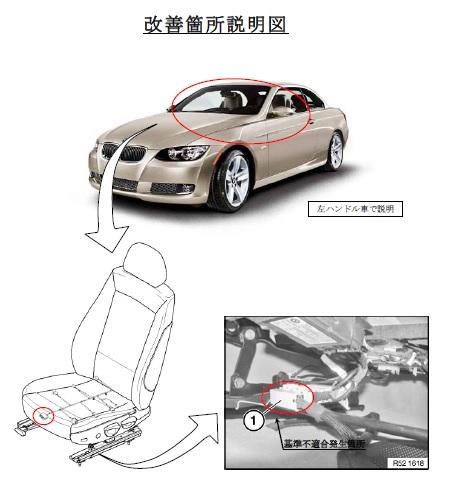 BMW エアバッグ不良